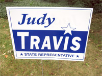 Judy Travis Yardsign